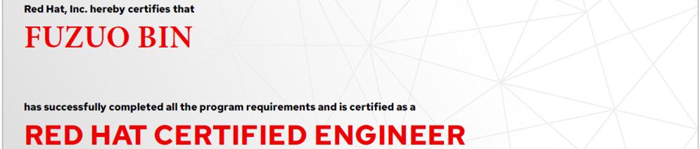 捷讯:付作斌12月14日北京顺利通过RHCE认证。