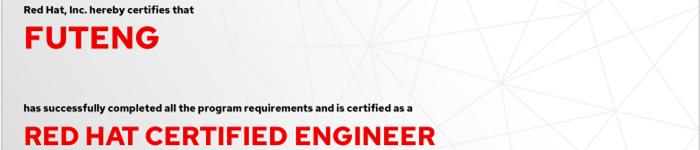捷讯:付腾12月3日北京顺利通过RHCE认证。