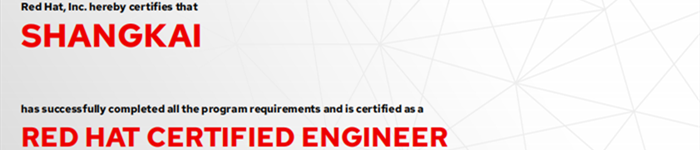 捷讯:尚凯12月23日深圳顺利通过RHCE认证。