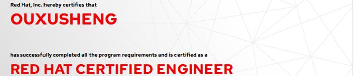 捷讯:欧旭升12月14日广州顺利通过RHCE认证。