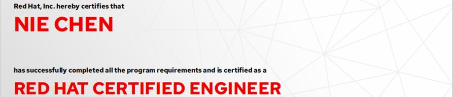 捷讯:聂晨12月3日北京顺利通过RHCE认证。