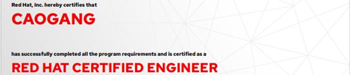 捷讯:曹刚12月14日北京顺利通过RHCE认证。