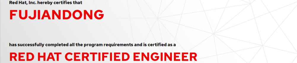 捷讯:傅建东12月4日北京顺利通过RHCE认证。