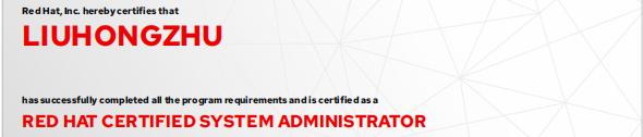 捷讯:刘洪柱12月3日北京顺利通过RHCE认证。