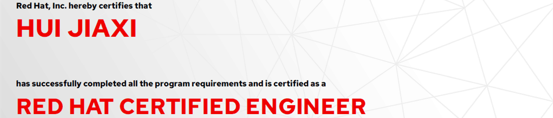 捷讯:惠嘉曦12月4日北京顺利通过RHCE认证。