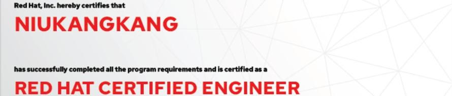 捷讯:牛康康12月4日北京顺利通过RHCE认证。