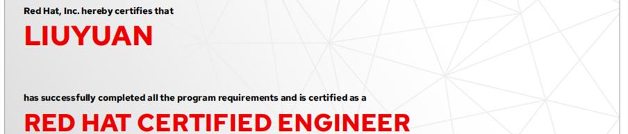 捷讯:刘远12月3日北京双满分通过RHCE认证。