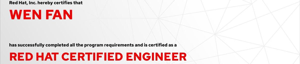 捷讯:文凡12月14日北京双满分通过RHCE认证。