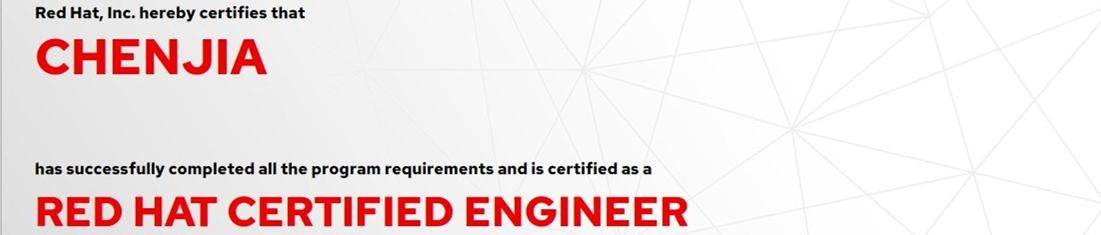 捷讯:陈佳12月23日深圳顺利通过RHCE认证。