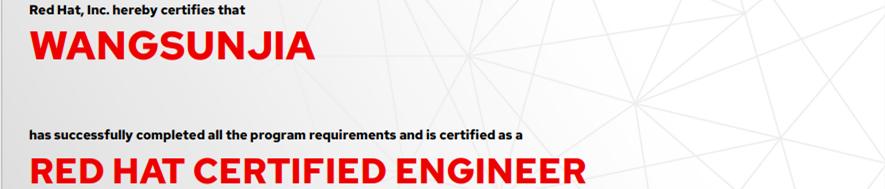 捷讯:王孙嘉11月30日上海顺利通过RHCE认证。