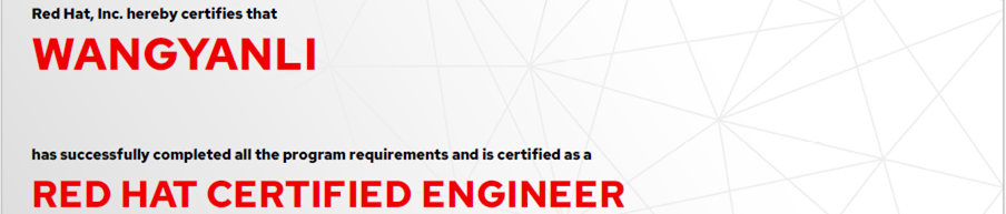 捷讯:王艳丽12月4日北京顺利通过RHCE认证。