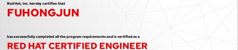捷讯:付宏君12月4日北京顺利通过RHCE认证。