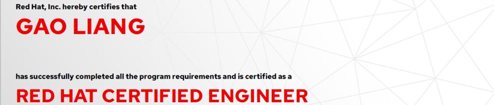 捷讯:高亮12月23日北京顺利通过RHCE认证。