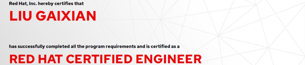 捷讯:刘盖仙3月16日北京顺利通过RHCE认证。