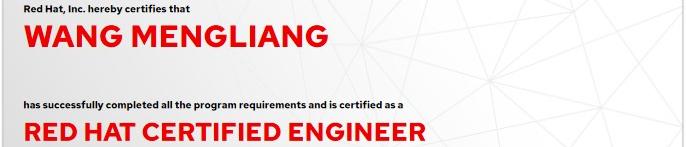 捷讯:王梦梁3月27日北京顺利通过RHCE认证。