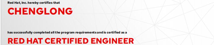 捷讯:程龙3月15日北京顺利通过RHCE认证。
