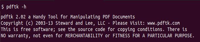 Ubuntu中使用pdftk合并、分离PDF文档等操作