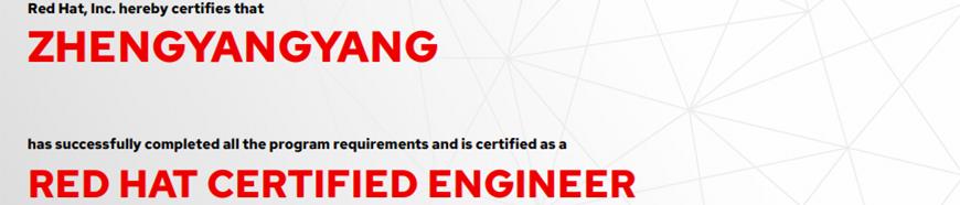 捷讯:郑洋洋5月24日北京顺利通过RHCE认证。