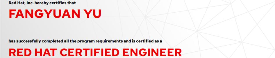 捷讯:于方远5月27日北京顺利通过RHCE认证。