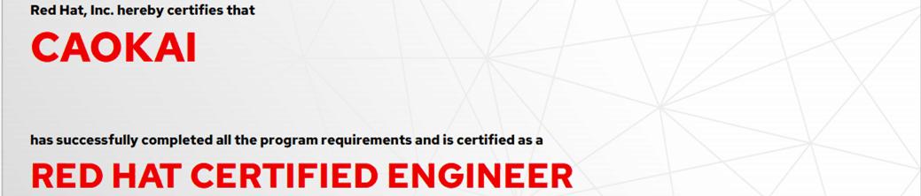 捷讯:曹凯5月24日北京顺利通过RHCE认证。