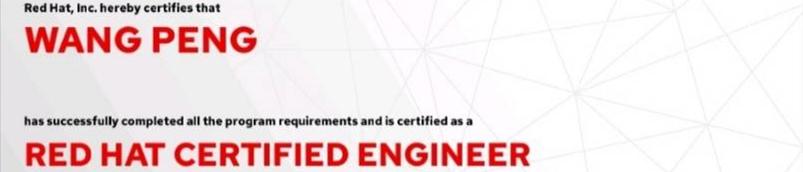 捷讯:王朋5月24日北京顺利通过RHCE认证。