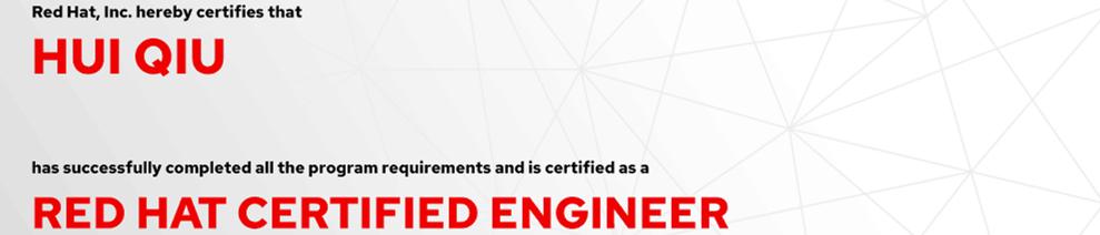 捷讯:邱会5月13日上海顺利通过RHCE认证。