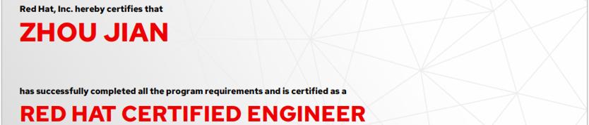捷讯:周建5月24日北京顺利通过RHCE认证。