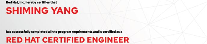 捷讯:杨世明5月26日大连顺利通过RHCE认证。