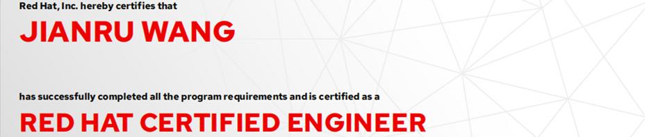 捷讯:王剑茹6月2日南京顺利通过RHCE认证。