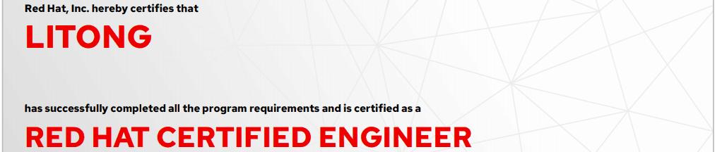 捷讯:李彤5月31日上海顺利通过RHCE认证。