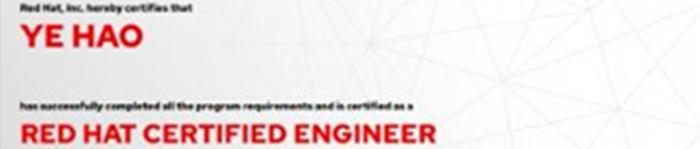 捷讯:叶昊6月11日上海顺利通过RHCE认证。