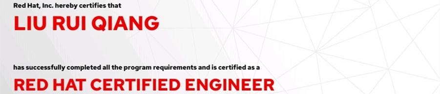 捷讯:刘瑞强6月9日北京顺利通过RHCE认证。