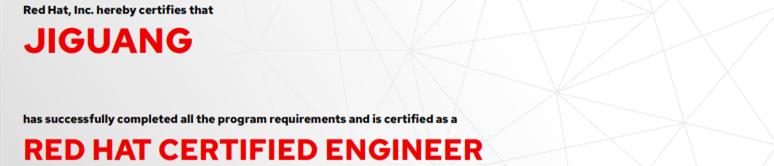 捷讯:纪广6月9日广州顺利通过RHCE认证。