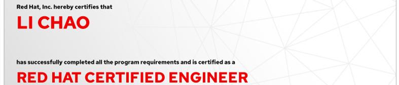 捷讯:李超6月2日南京顺利通过RHCE认证。