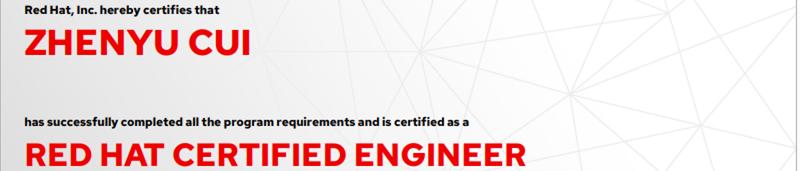 捷讯:崔振宇7月24日北京顺利通过RHCE认证。