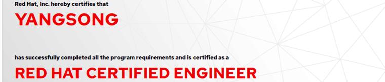 捷讯:杨松7月8日广州顺利通过RHCE认证。