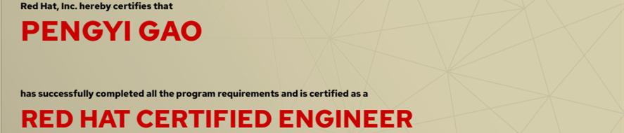 捷讯:高鹏驿7月24日北京顺利通过RHCE认证。
