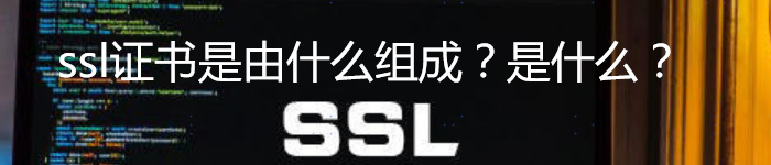 ssl证书是由什么组成?ssl证书是什么?