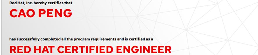 捷讯:曹鹏9月7日北京顺利通过RHCE认证。