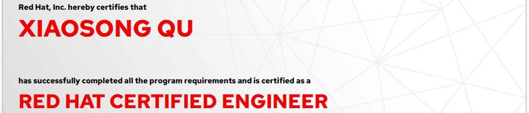 捷讯:曲晓松9月6日北京顺利通过RHCE认证。