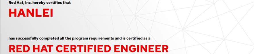 捷讯:韩磊9月7日北京顺利通过RHCE认证。