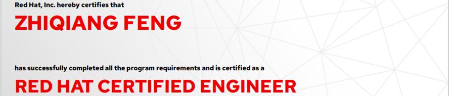 捷讯:冯志强9月3日上海顺利通过RHCE认证。