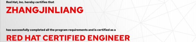 捷讯:张金亮9月6日北京顺利通过RHCE认证。