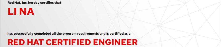 捷讯:李娜9月7日北京顺利通过RHCE认证。