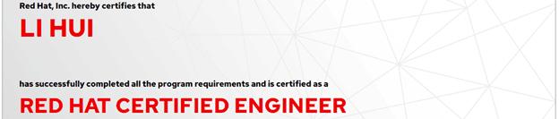 捷讯:李辉9月6日北京顺利通过RHCE认证。
