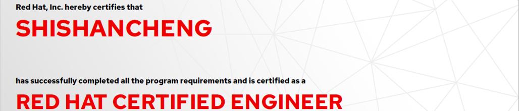捷讯:史善丞9月6日北京顺利通过RHCE认证。