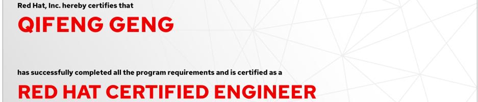 捷讯:耿启峰9月6日北京顺利通过RHCE认证。