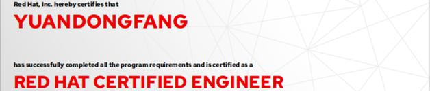 捷讯:方园东8月23日深圳顺利通过RHCE认证。